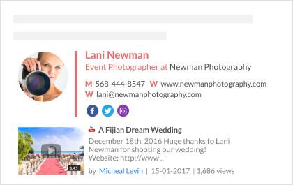 clickable video email signature