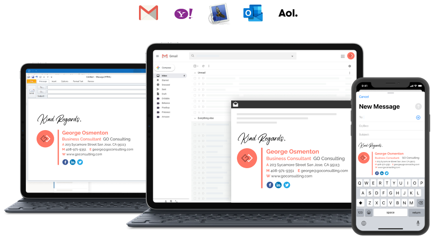 fully integrated email signature management by Wisestamp
