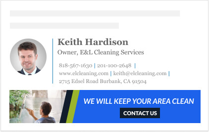 contact us clickable button design for email signature banner