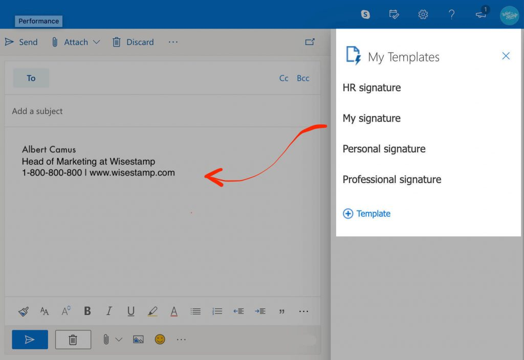 create multiple email signatures in office 365 using my templates