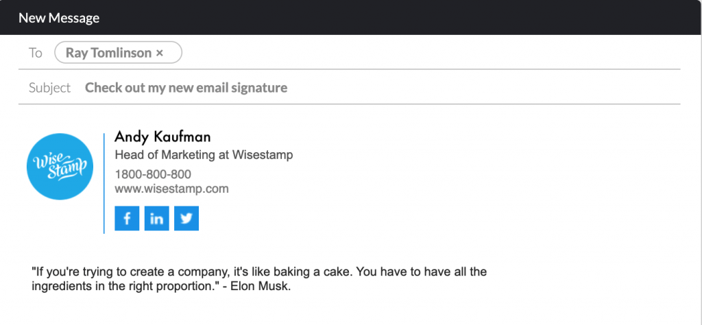 how to add a quote to my email signature