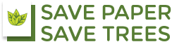 save paper save trees logo