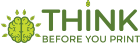 think before you print logo