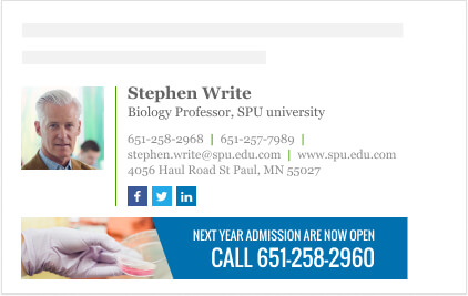 Biology professor signature high education email signature