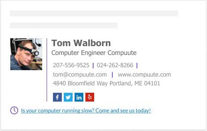 Computer Engineer gmail signature