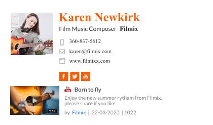 Film music composer email signature