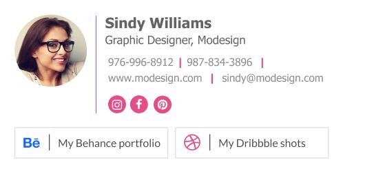 Job seeker graphic design email signature