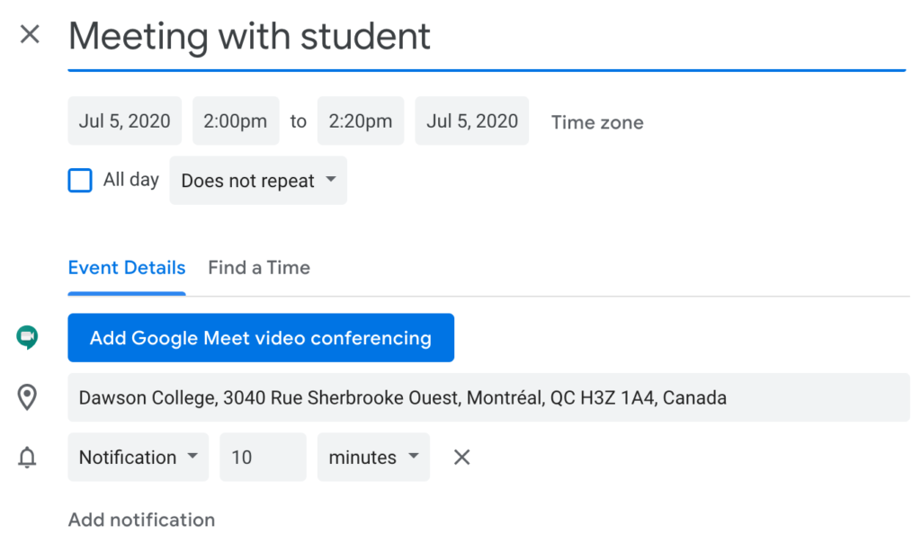 Schedule with google