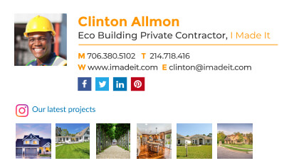 eco building private contractor email signature template