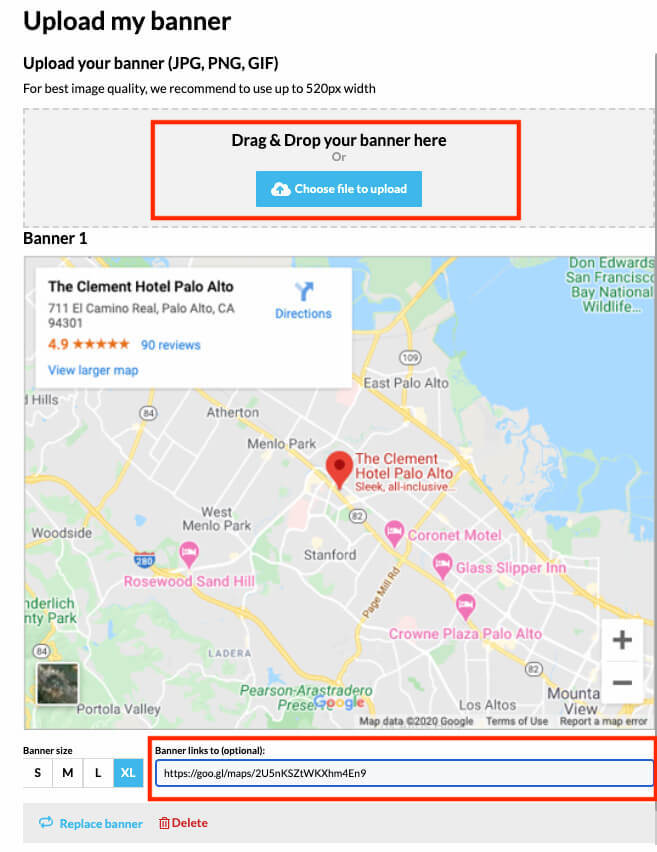 how to add google maps to email signature - Link your map banner to your live map