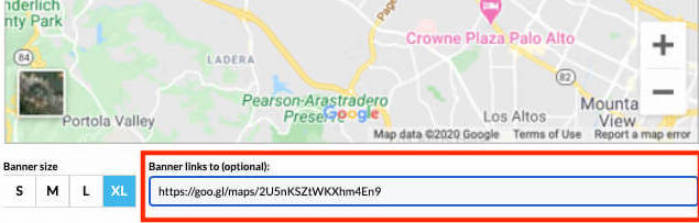 how to add google maps to email signature - Link your map banner to your live map step 2