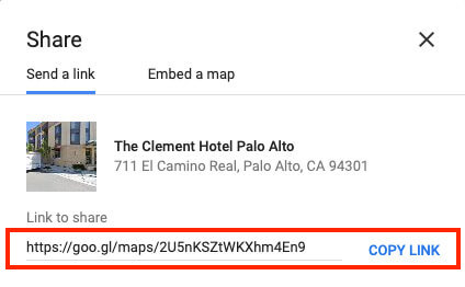 how to add google maps to email signature - get map link