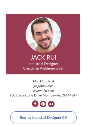 job seeker email signature with CTA button