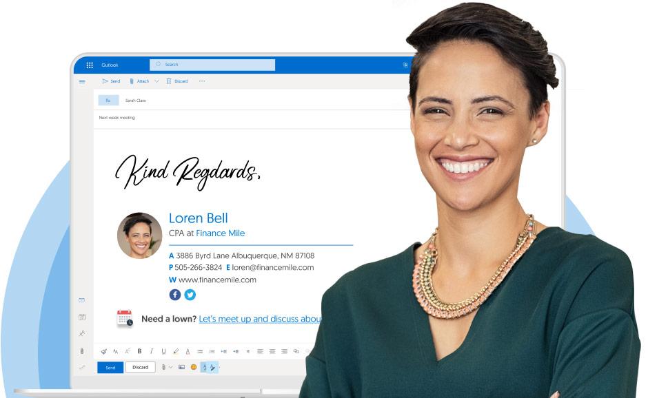 Outlook email signature generator