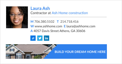 private construction contractor email signature