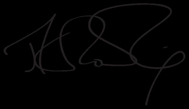 JK Rowling signature