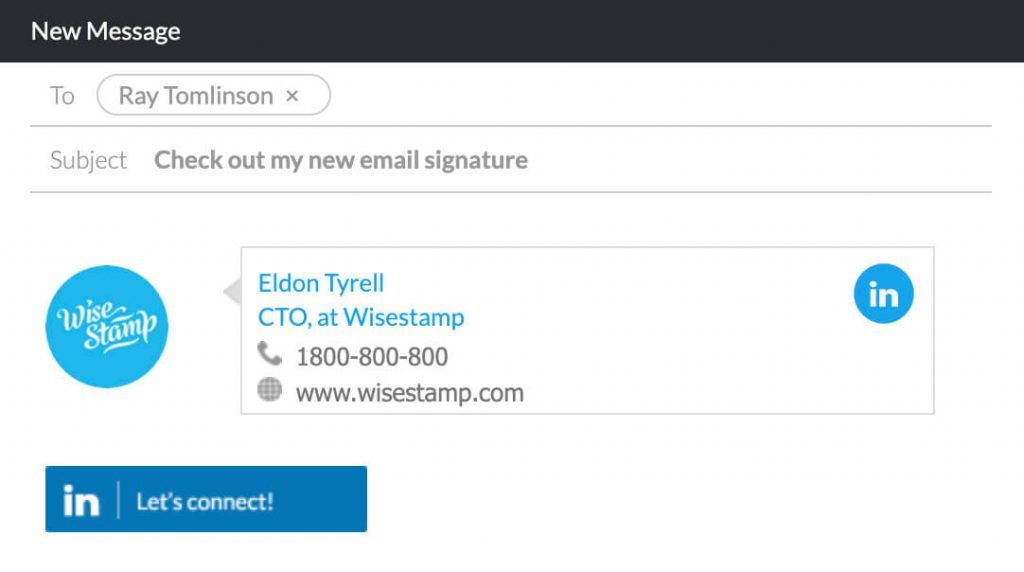 Lets connect - Linkedin badge for email signature