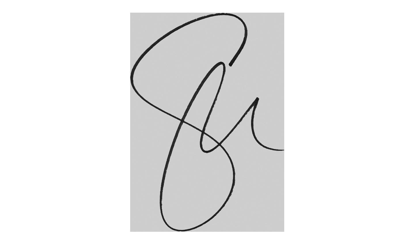 Serena Williams handwritten signature