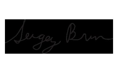 Sergey Brin google founder hand signature