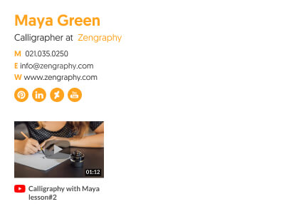 beautiful minimalist email signature block template