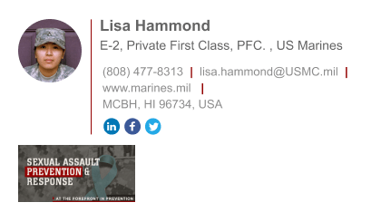 marine private first class email signature