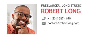 minimal freelancer email signature format