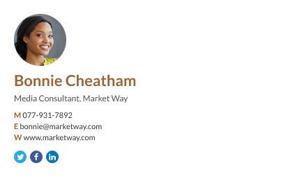 minimalist consultant email signature