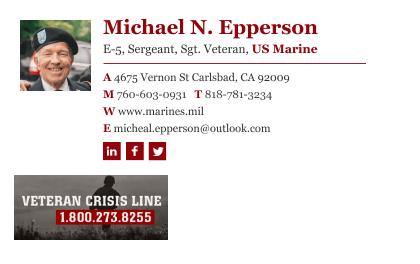 veteran email signature