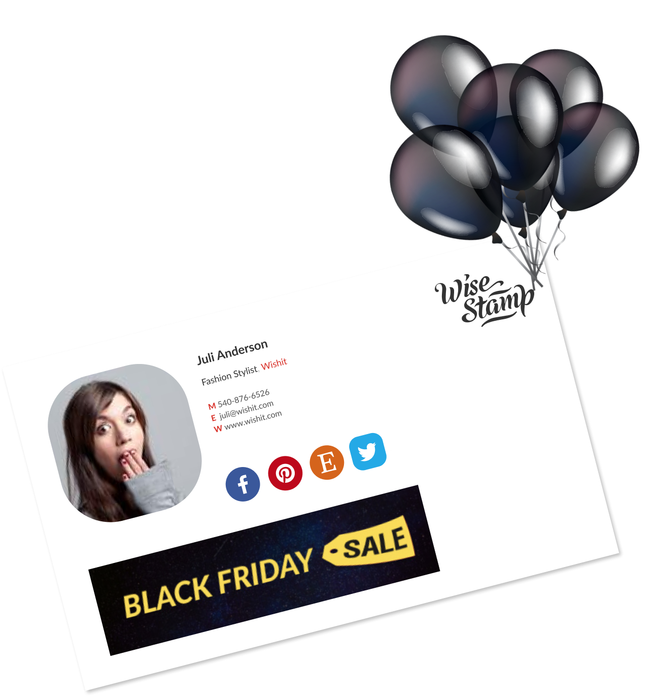black friday sales banner for email signature