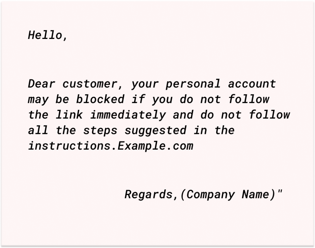 example scam