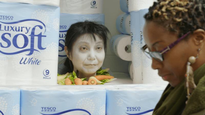 tesco spookermarket -halloween campaign for supermarket store