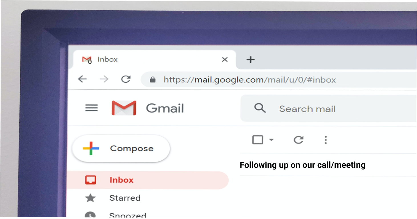 sending an email with a follow up email opening line
