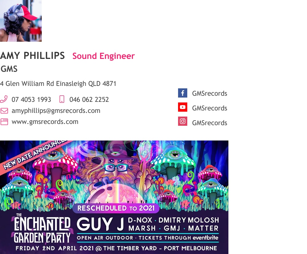 DJ and sound engineer email signature with event banner-min