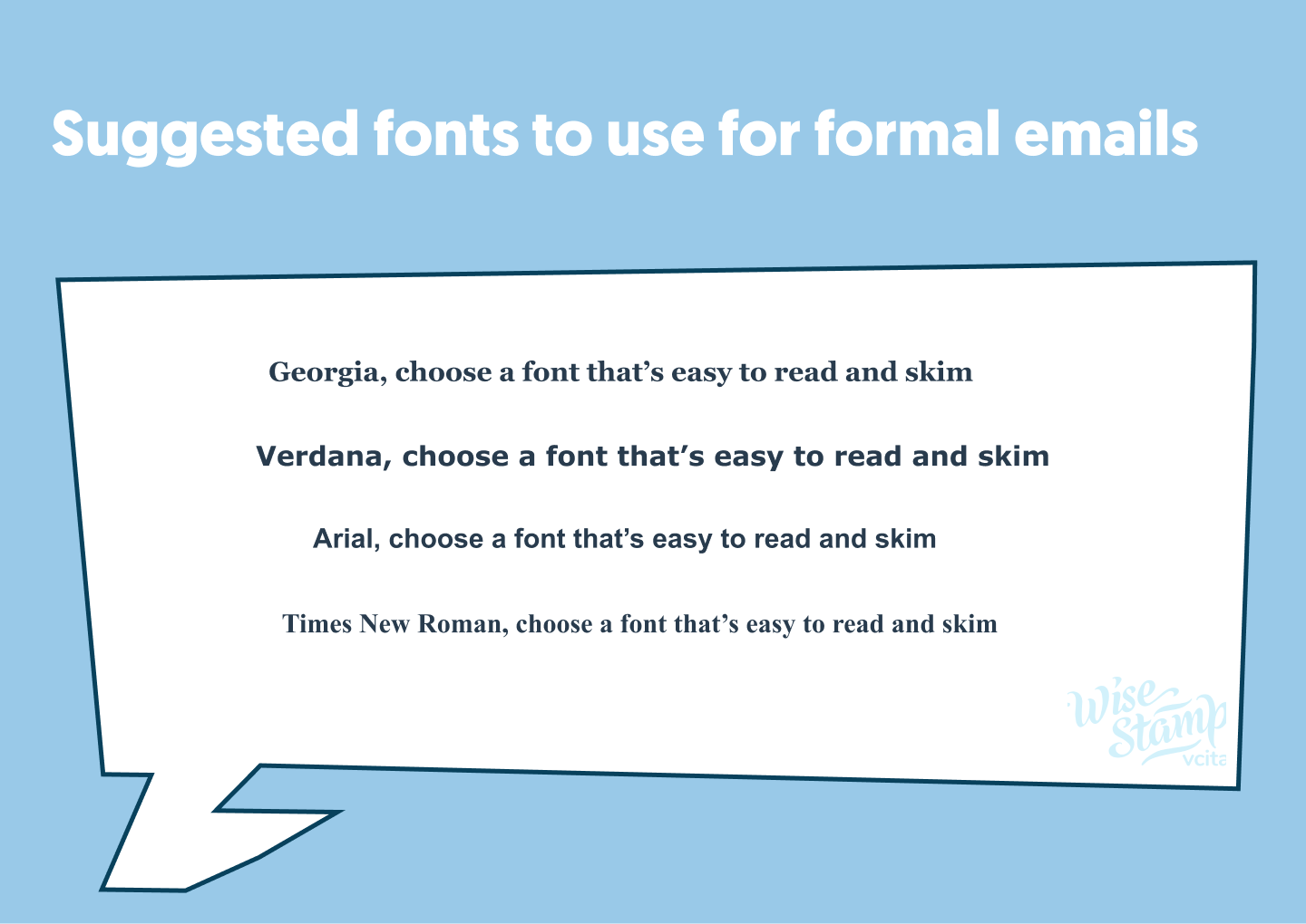 formal email fonts