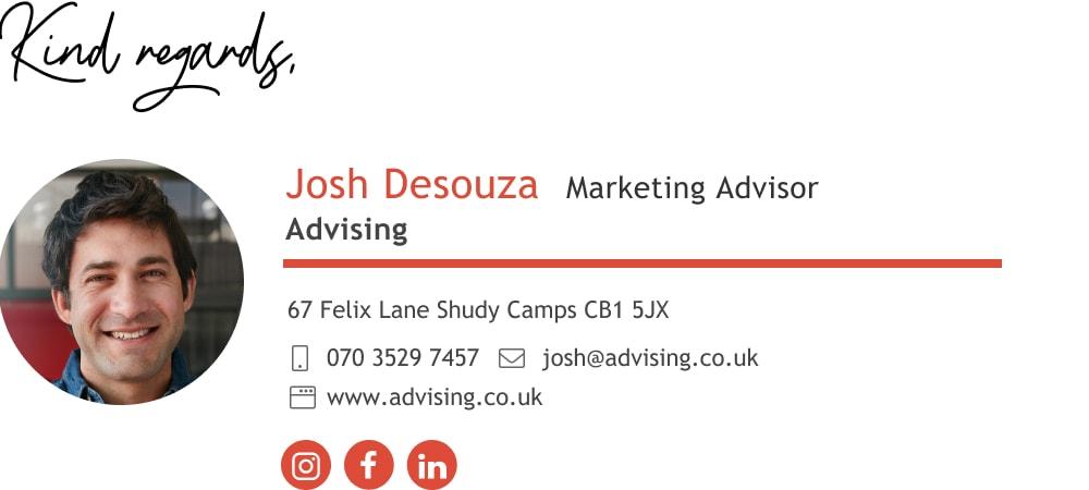 Marketing advisor email signature template