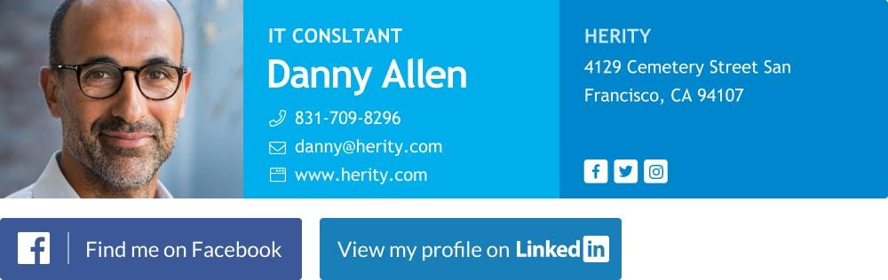 Minimalist consultant email signature template