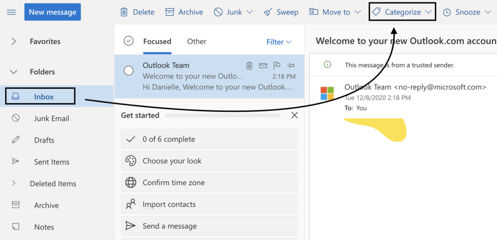 How to create and use categories in Outlook