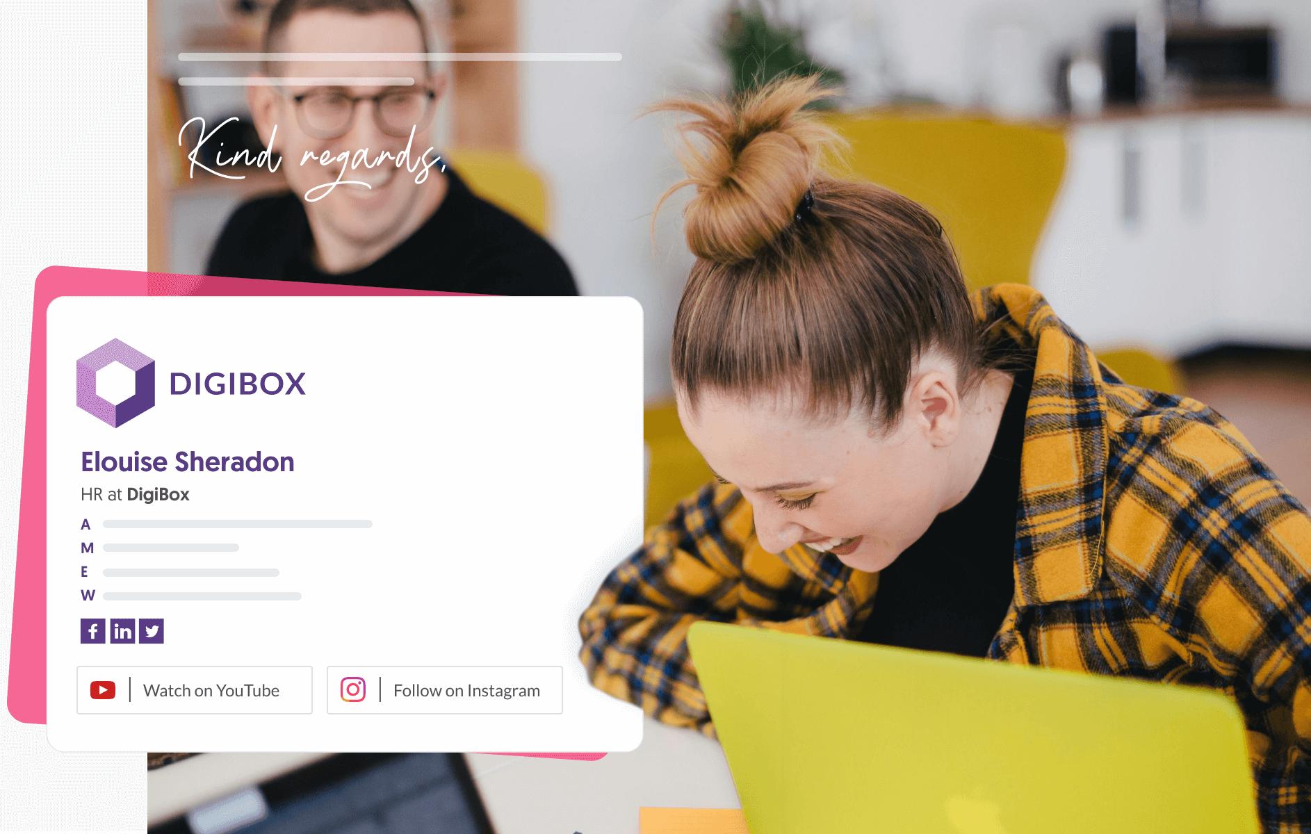 Start up team email signature