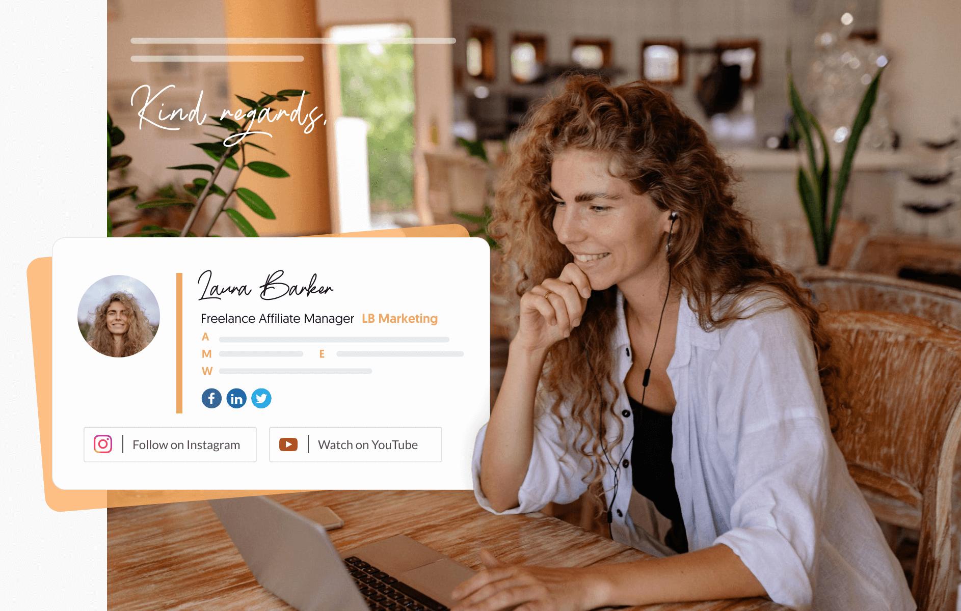 blogger email signature