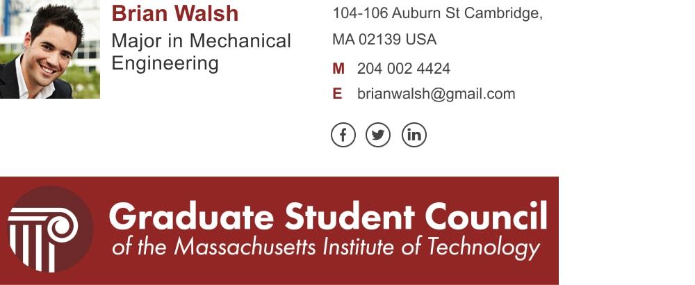 email signature for graduate student