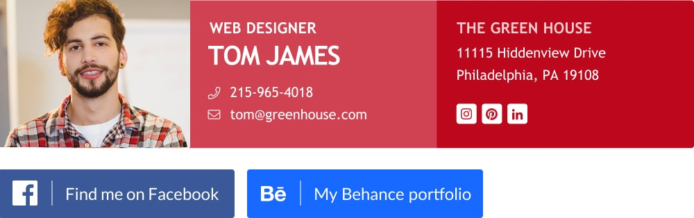 free eye catching web designer email signature template