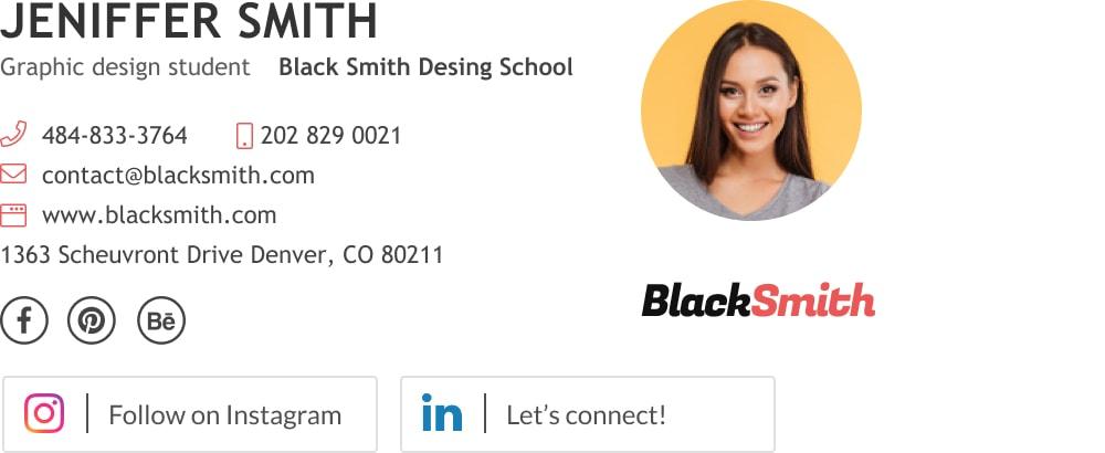 simple graphic designer email signature block-min