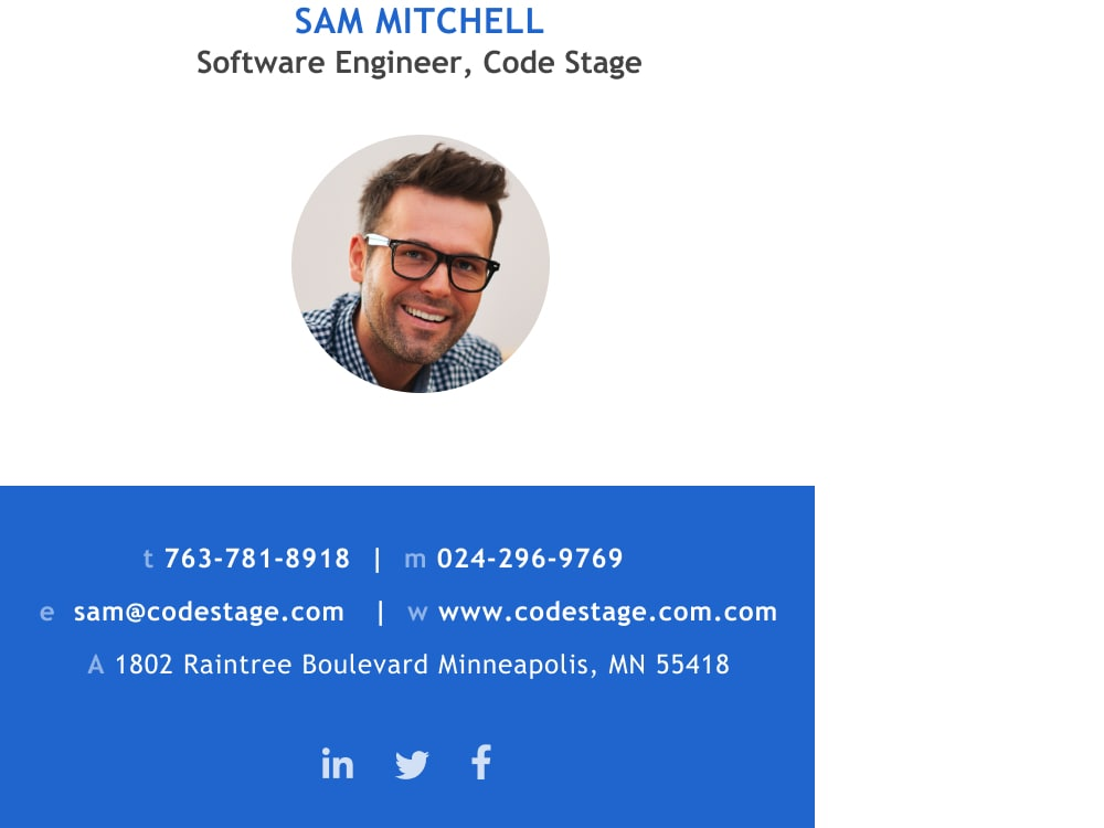 software engineer email signature template