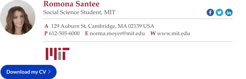 student email signature example