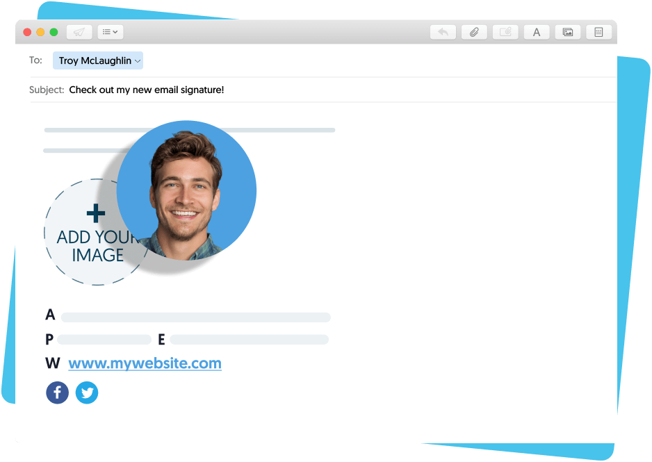 Create custom email signature in mac mail