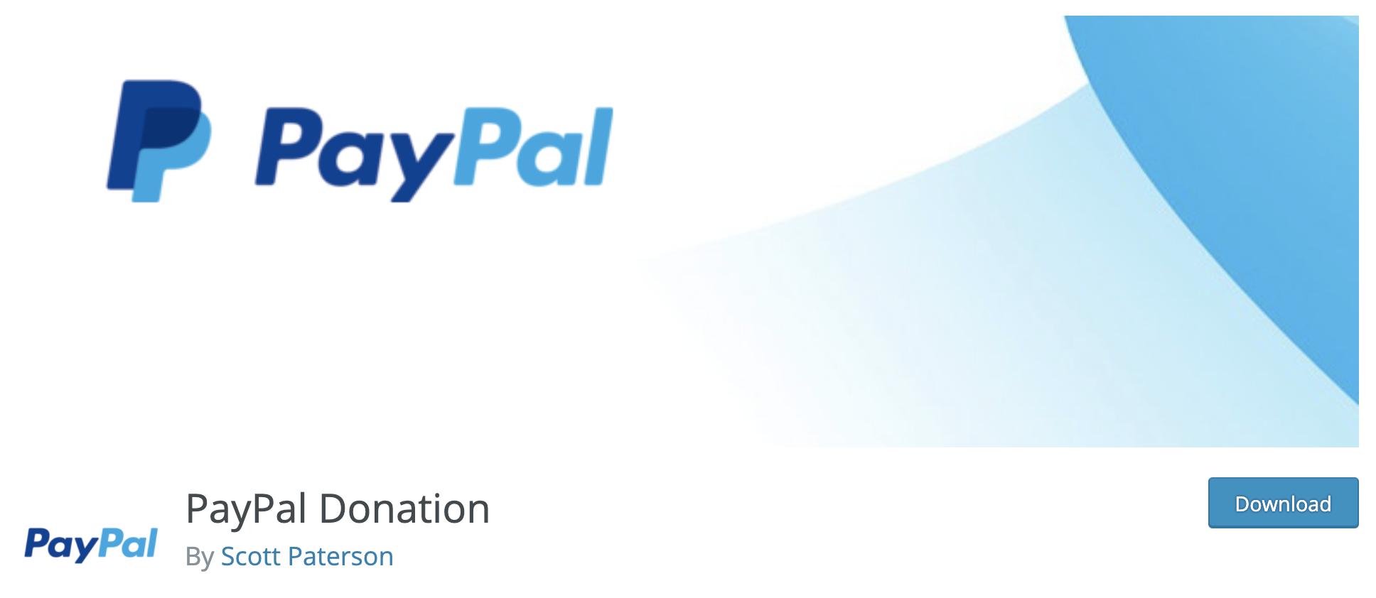 paypal donations word press plugin