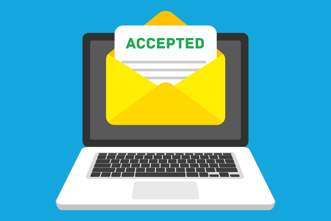 Accepted Email In Envelope