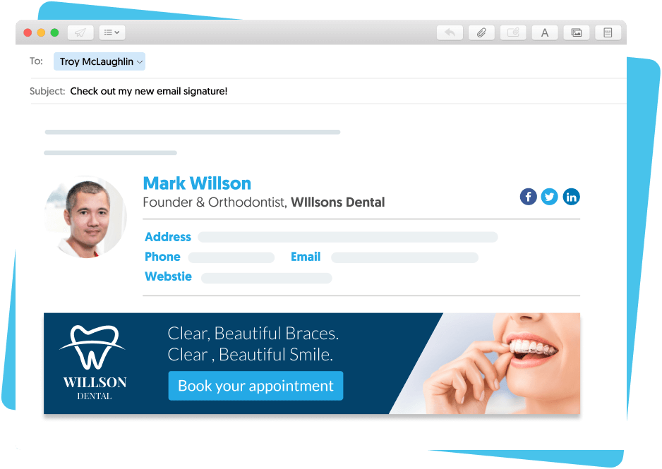 how to image and hyperlink in your Mac Mail signature