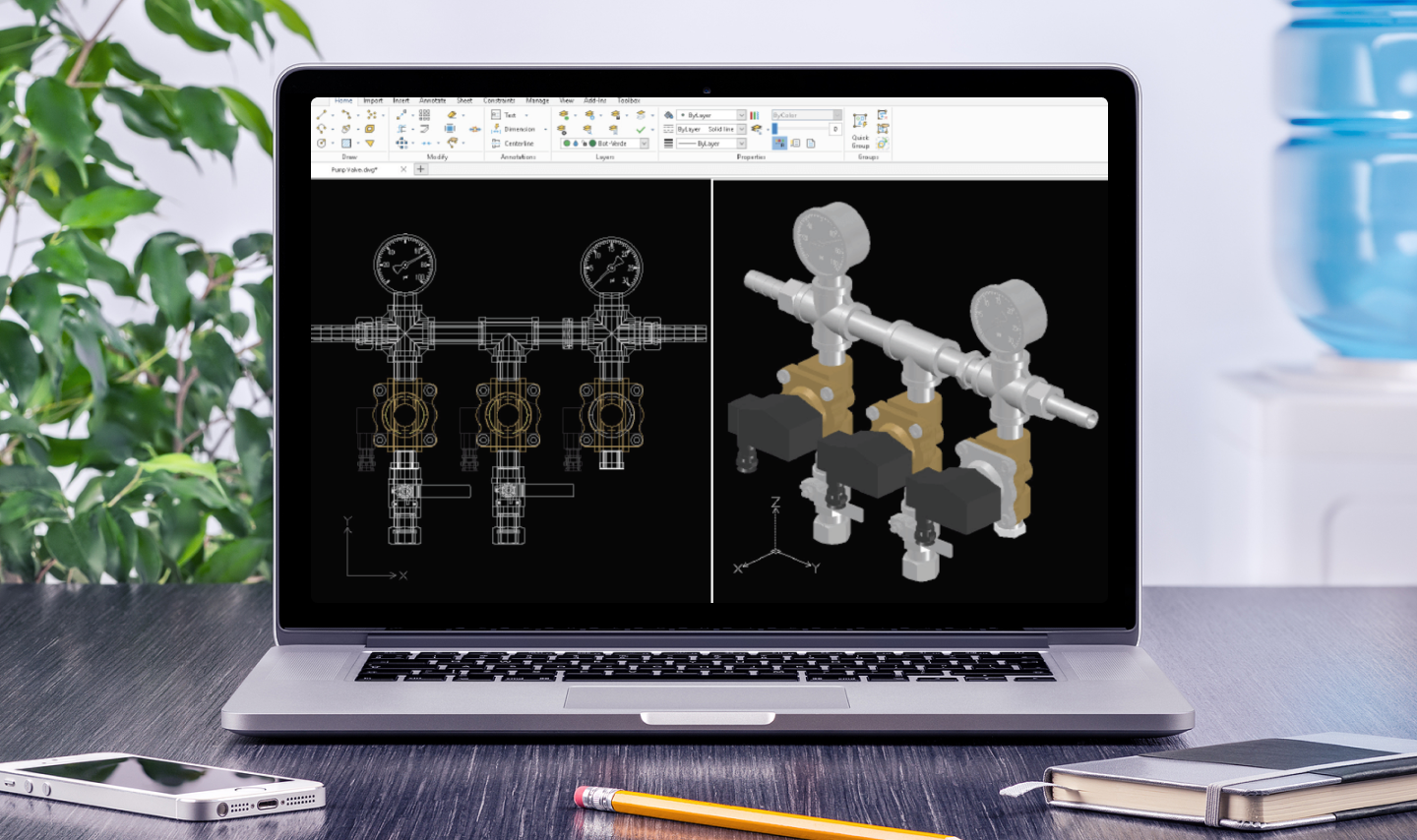 DraftSight affordable CAD tool with 2D drafting and 3D design.