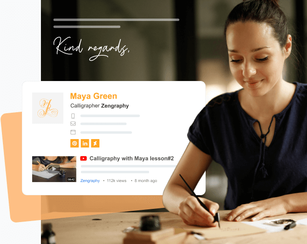 simple and basic email signature